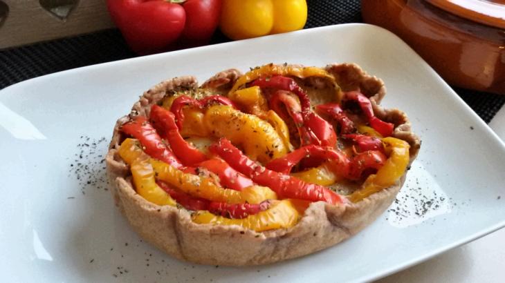 torta-salata-peperoni-guscio