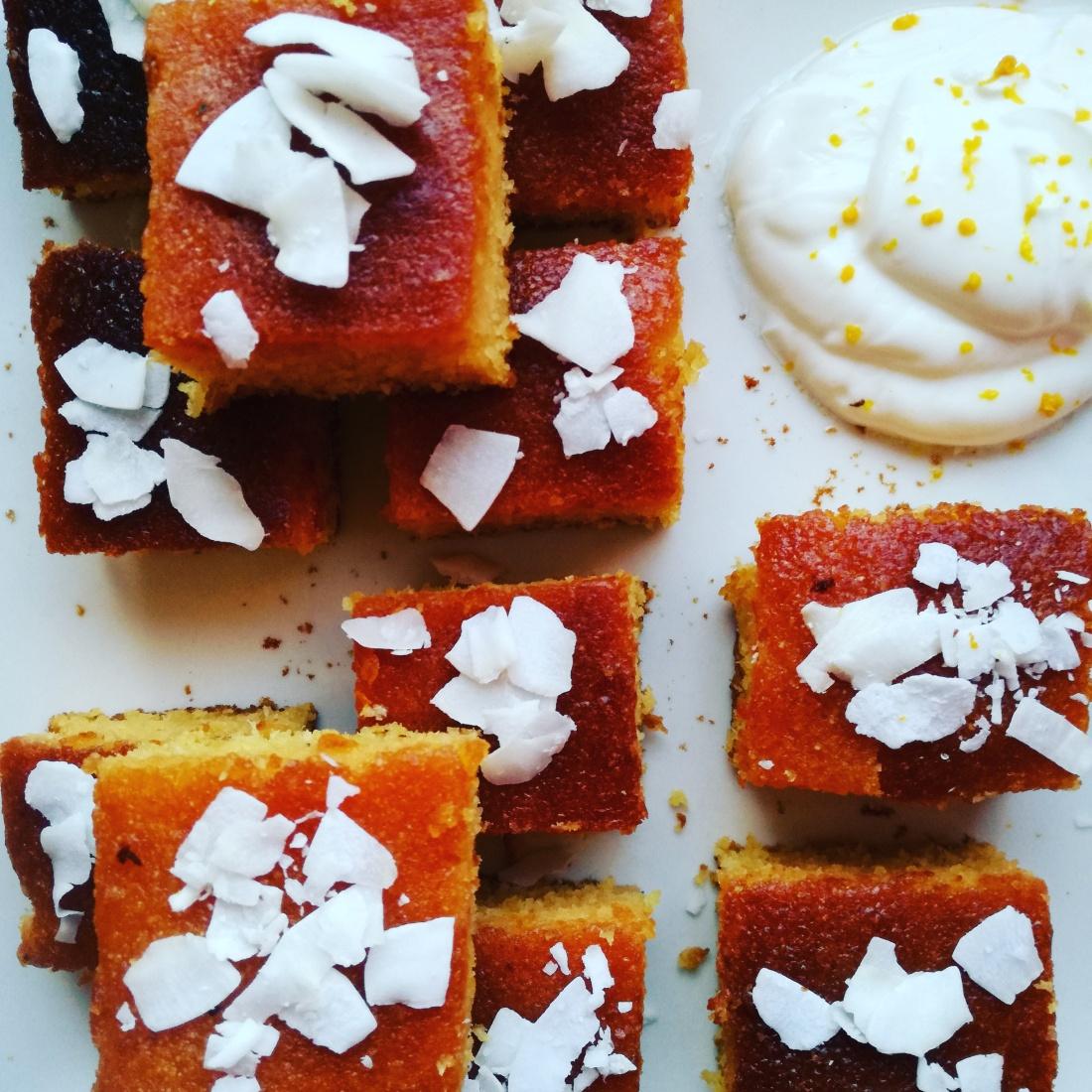 Torta di semolino con cocco e arance @fraduefuochi