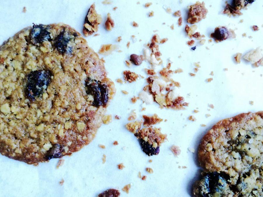 Cookies con fiocchi di avena e uvapassa