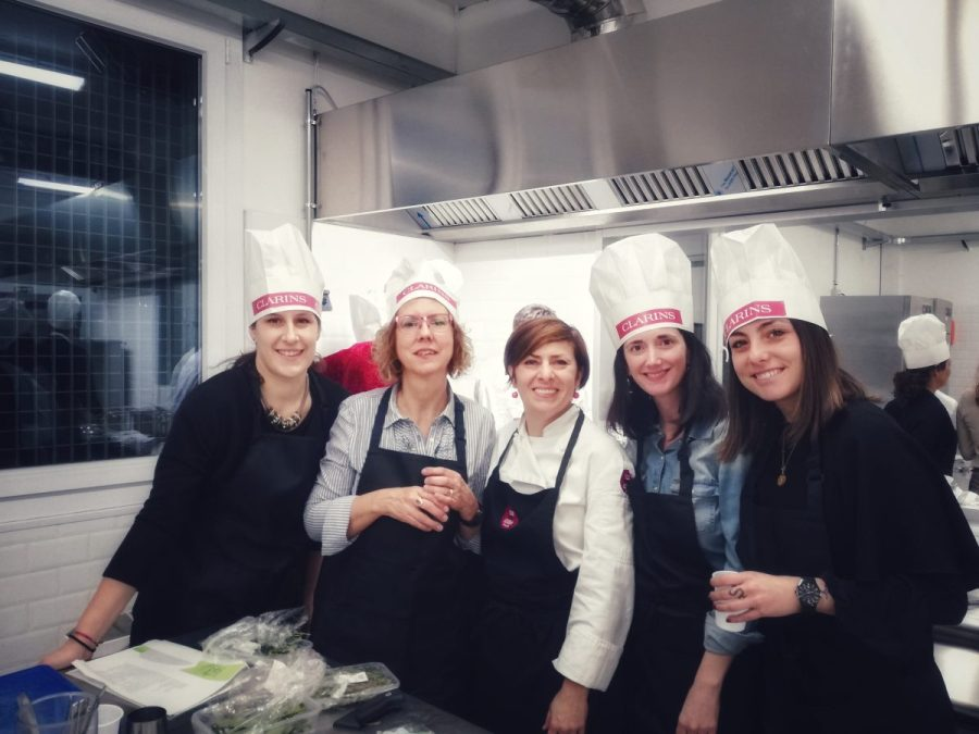 Cronache dal laboratorio, giorno 3. Il cooking team building Clarins