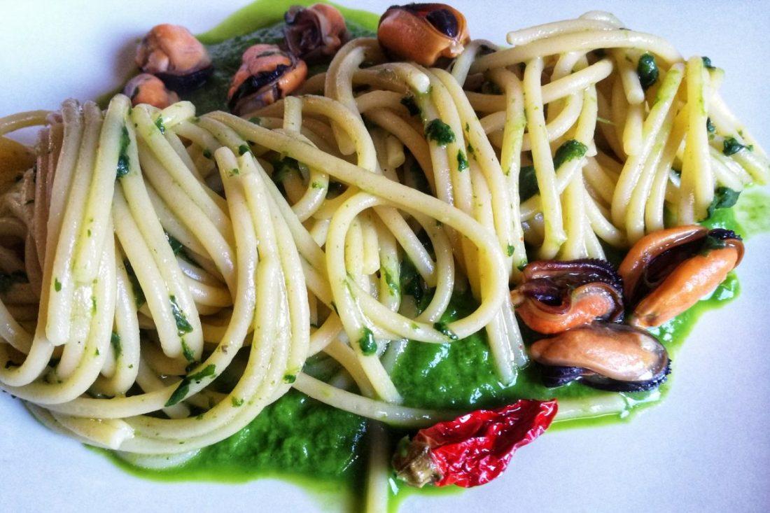 spaghetti cime e cozze ©Fraduefuochi