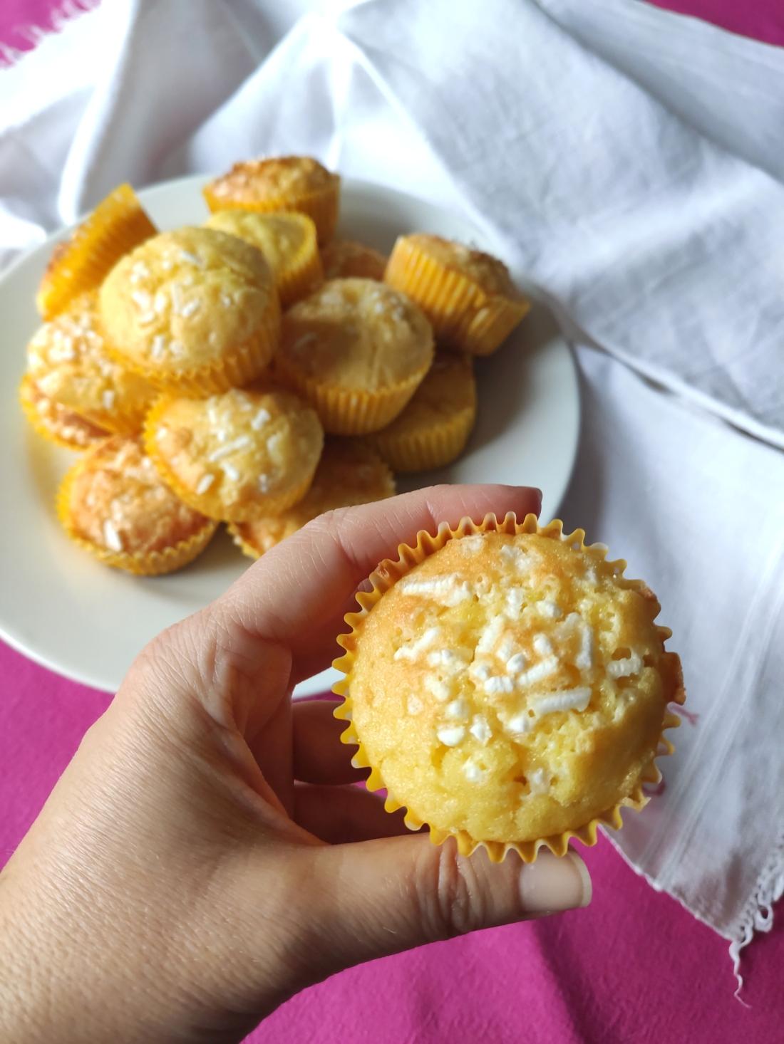 Muffin cioccolato bianco e limone 2