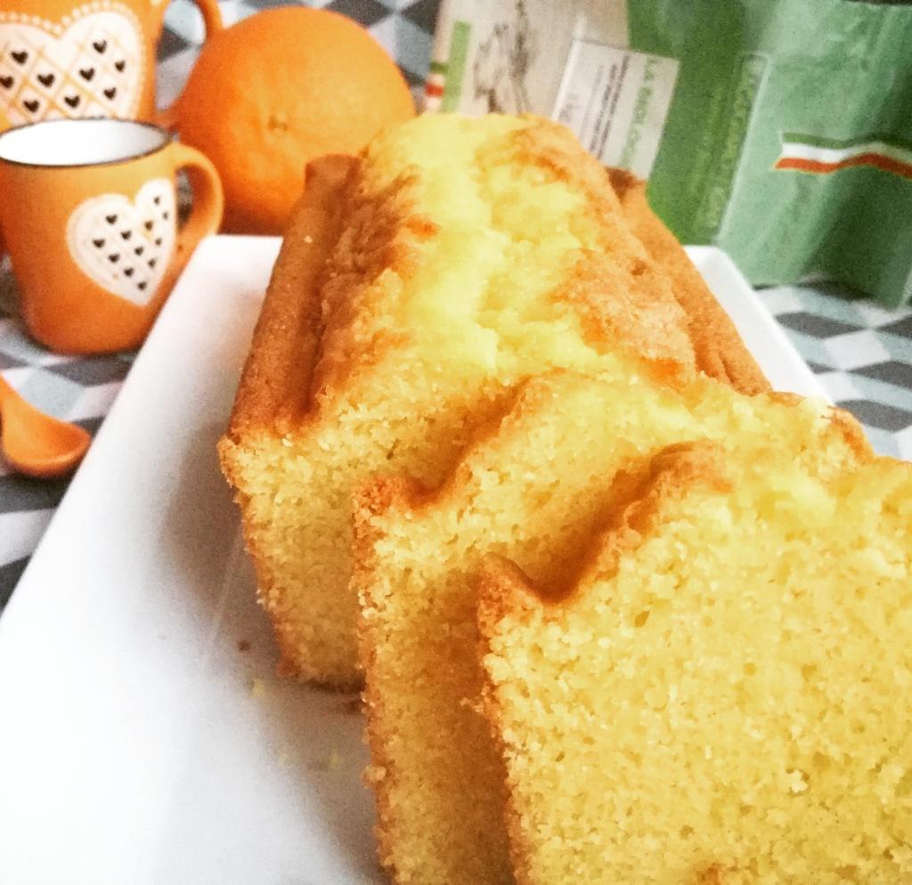 plumcake arancia e rum con farina Agugiaro & Figna