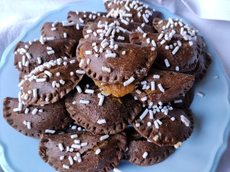 tortelli dolci cioccolato e zucca