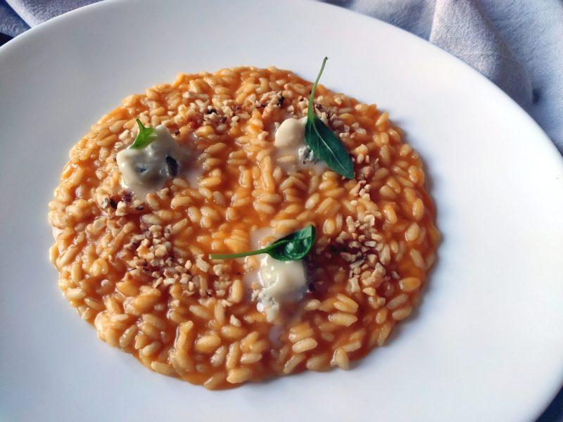 risotto zucca nocciole e gorgonzola